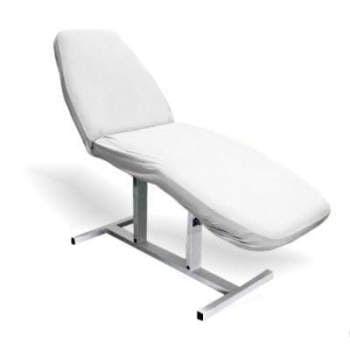 Pokrowiec frotte na fotel kosmetyczny -Biały