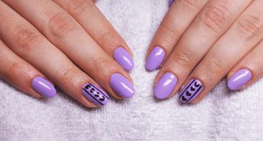 Produkty NeoNail użyte do stylizacji to: Żel kolorowy (plum 3707) oraz Top (plum 1345)