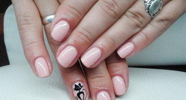 Produkty NeoNail użyte do stylizacji to: Base,  kolorowy lakier hybrydowy (plum 2859) oraz Top