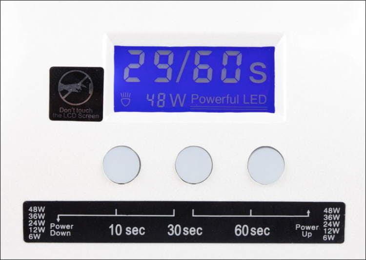 Lampa LED 48 W - biała wyświetlacz