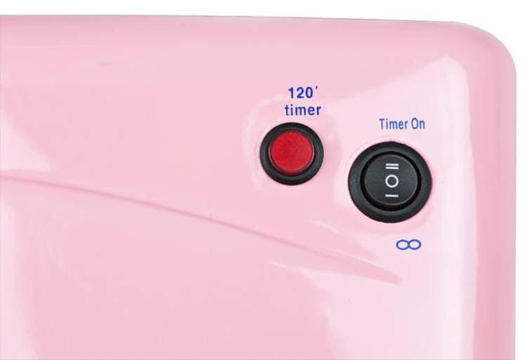 EMG lampa UV z wysuwanym spodem - różowa timer zoom