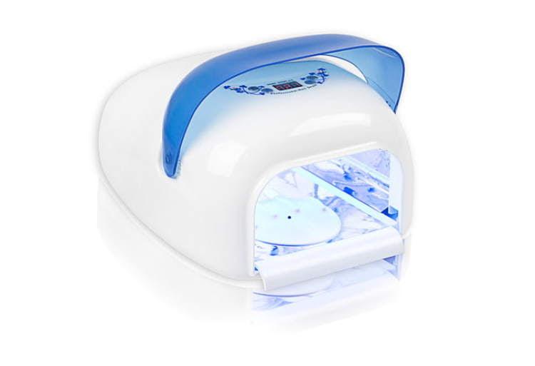 Lampa cyfrowa LCD niebieska z sensorem
