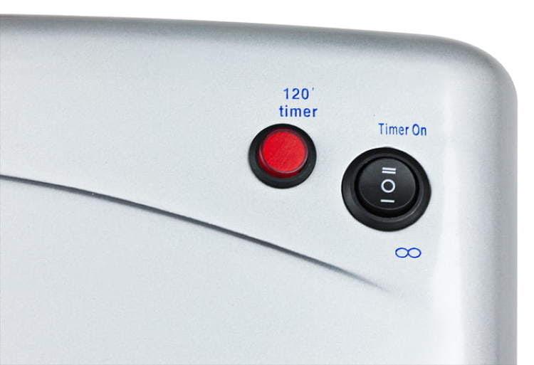 Profesjonalna EMG lampa UV z wysuwanym spodem - srebrna włącznik timer