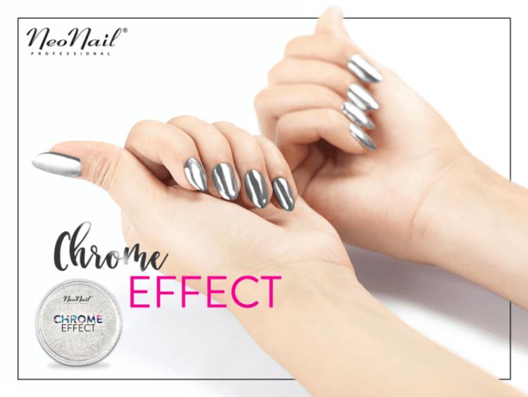 Puder Chrome Effect – Silver pyłek na paznokciach