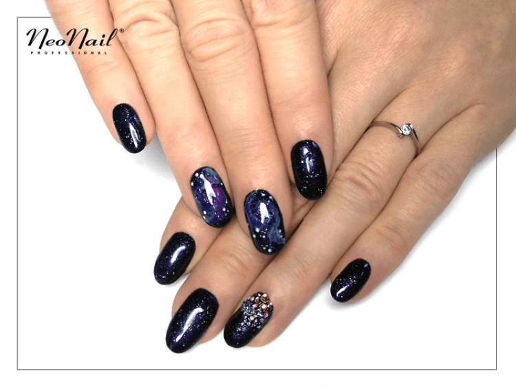 stylizacja lakierem hybrydowym Galaxy Glitter