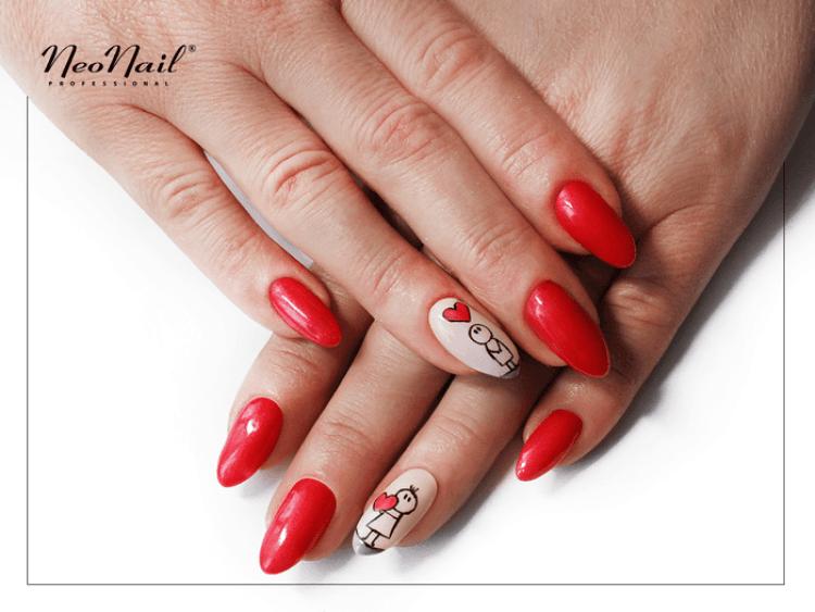 stylizacja lakierem hybrydowym Lady in Red