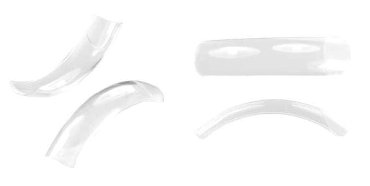 Tipsy salonowe 120 szt. clear z długą kieszonką NeoNail