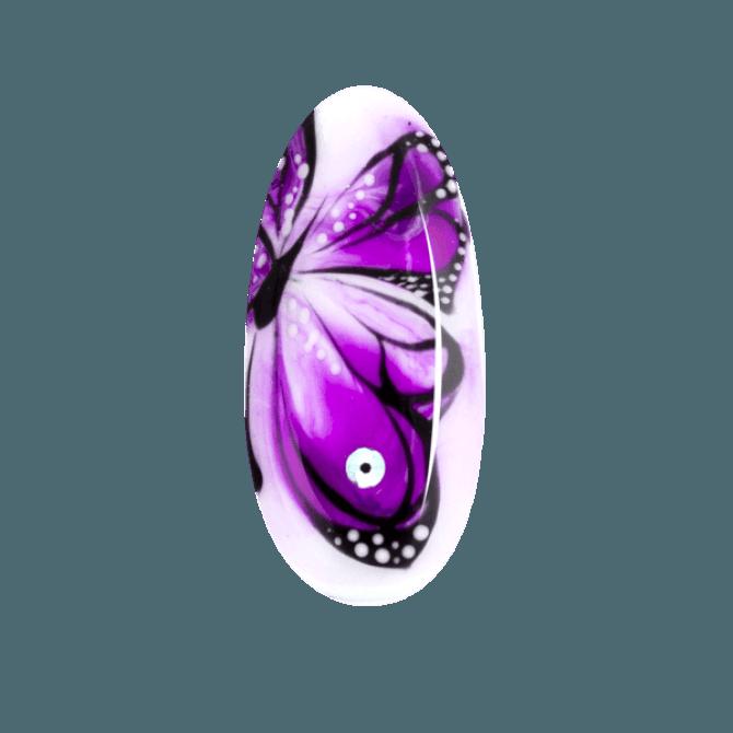 efekt rozlanego motyla na paznokciach Aquarelle