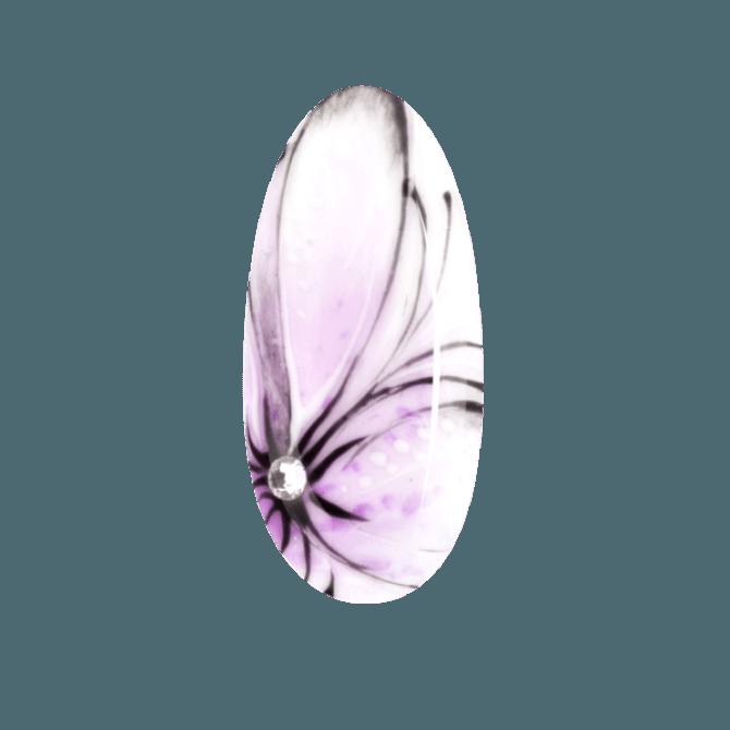 efekt rozmytego kwiatu na paznokciach Aquarelle