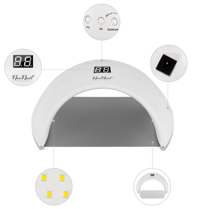 Lampa led  o mocy 24W/48W prezentacja lampy od frontu wraz z widocznymi szczegółami