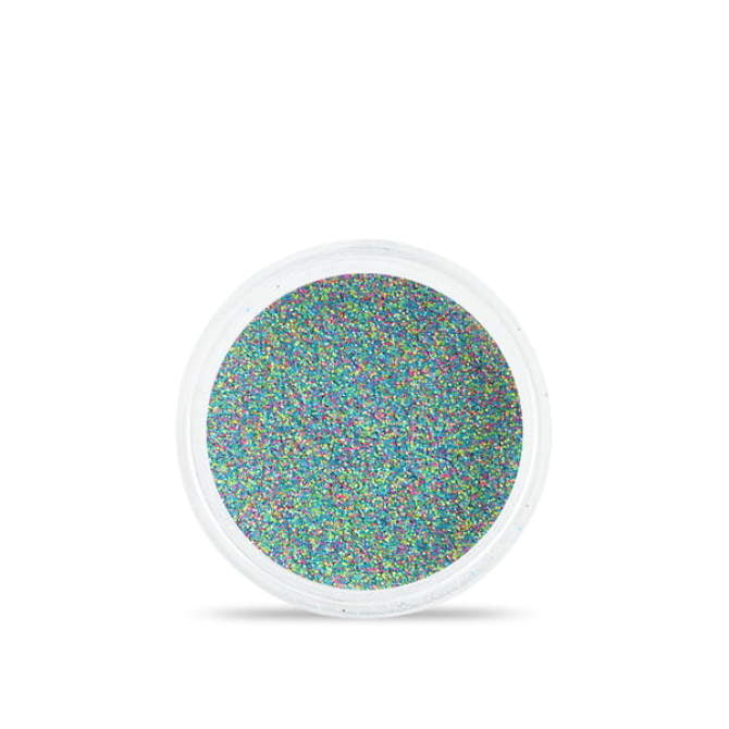 Drobny pyłek do stylizacji paznokci Sand effect w odcieniach niebiesko - różowych - zielonych
