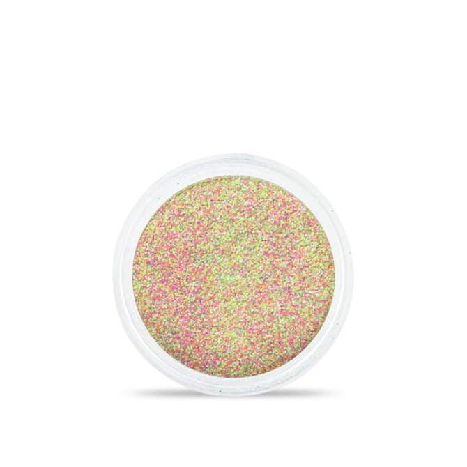 Drobny pyłek do stylizacji paznokci Sand effect w odcieniach różowo - zielonych