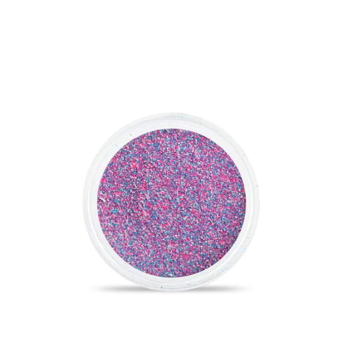 Drobny pyłek do stylizacji paznokci Sand effect w odcieniach fioletowo - różowych - niebieskich