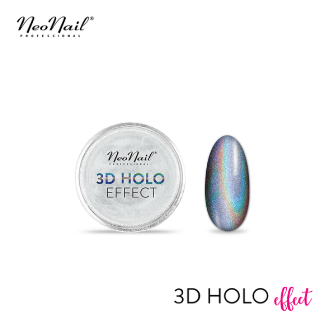 Drobny pyłek 3D Holo Effect do stylizacji paznokci hybrydowych