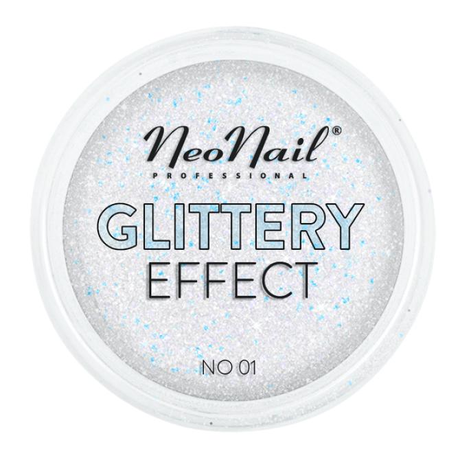 Pyłek Glittery Effect do zdobienia paznokci