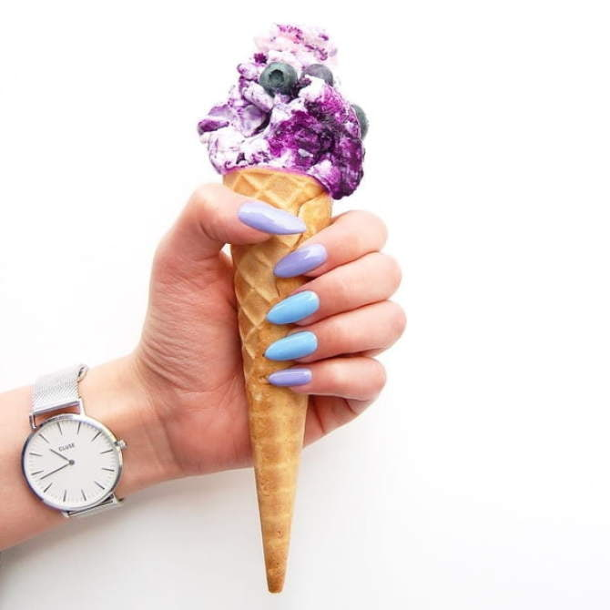 Lakier Hybrydowy 6 ml - Blue Cream Jelly