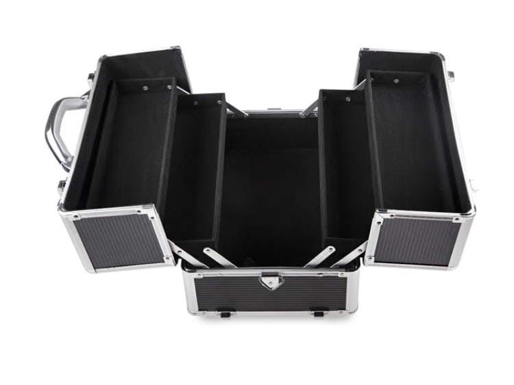 Kuferek kosmetyczny duży XXL czarny wnętrze