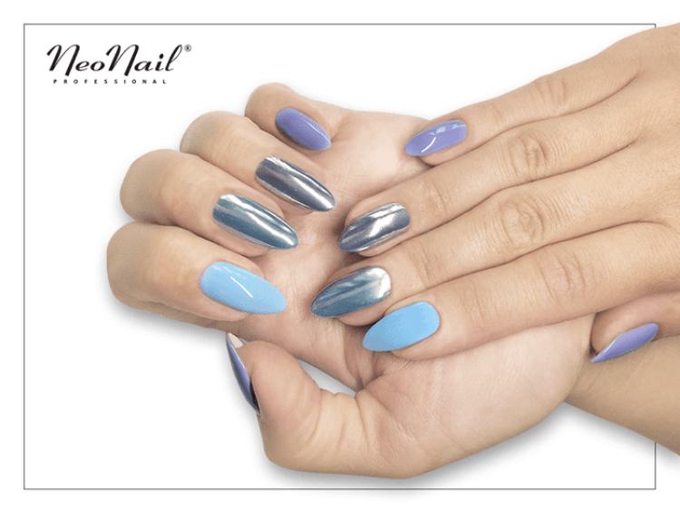 Stylizacja z lakierem hybrydowym Blue Cream Jelly