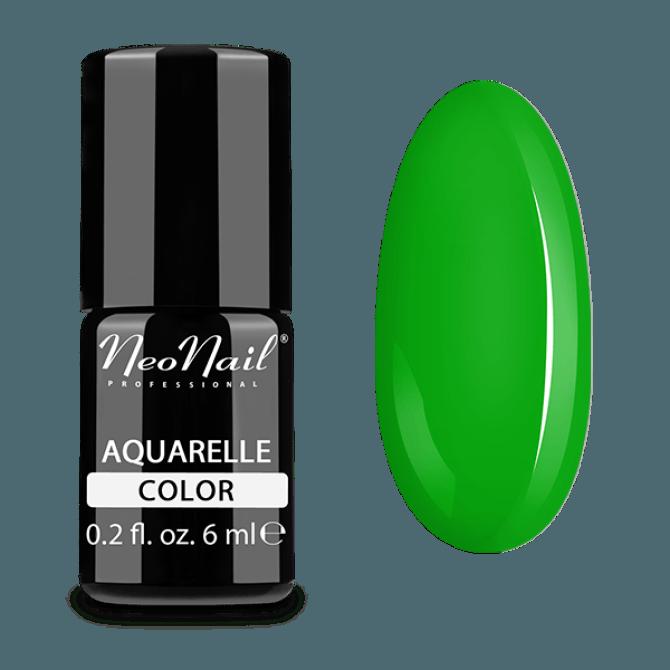 Lakier hybrydowy Aquarelle w zielonym odcieniu.
