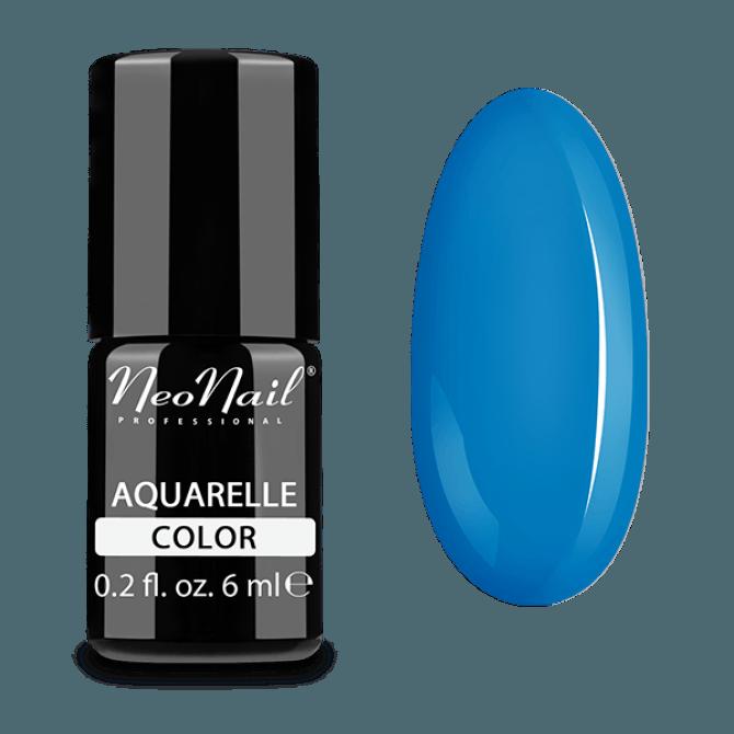 Lakier hybrydowy Aquarelle w niebieskim odcieniu.