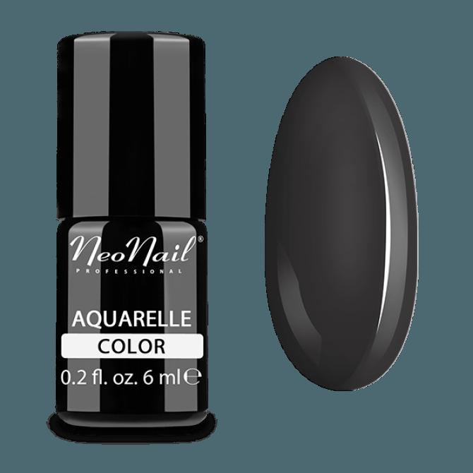 Lakier hybrydowy Aquarelle w czarnym odcieniu.