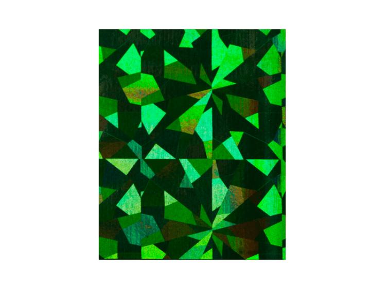 Folia transferowa / hologramowa zielona