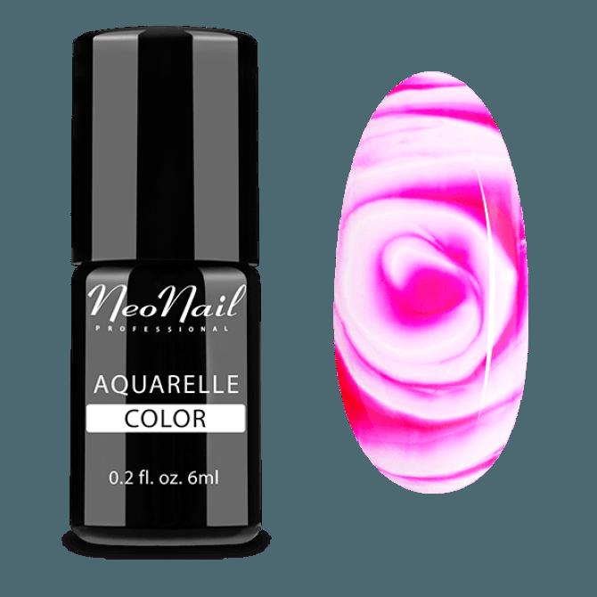 Lakier Hybrydowy do stylizacji paznokci na mokro Raspberry Aquarelle