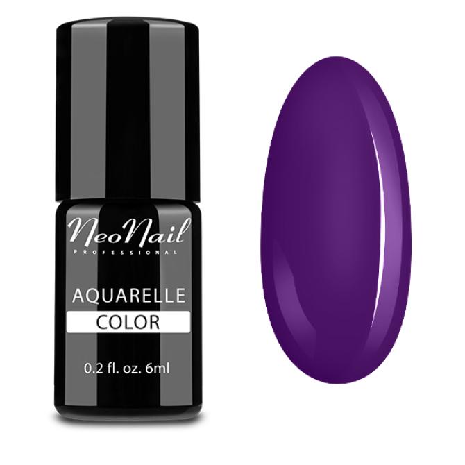 lakier hybrydowy do stylizacji paznokci na mokro Purple Aquarelle