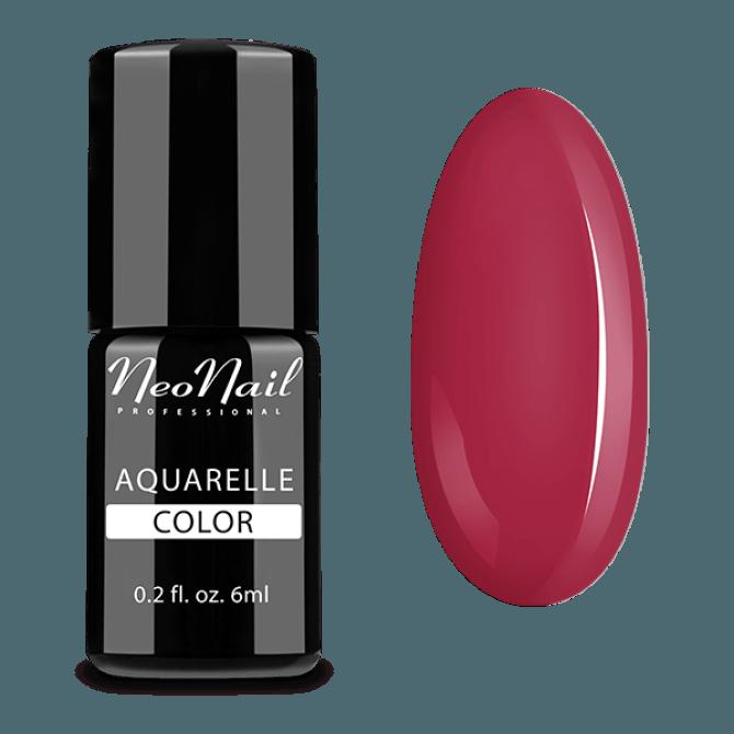 Lakier hybrydowy Aquarelle w czerwonym odcieniu.