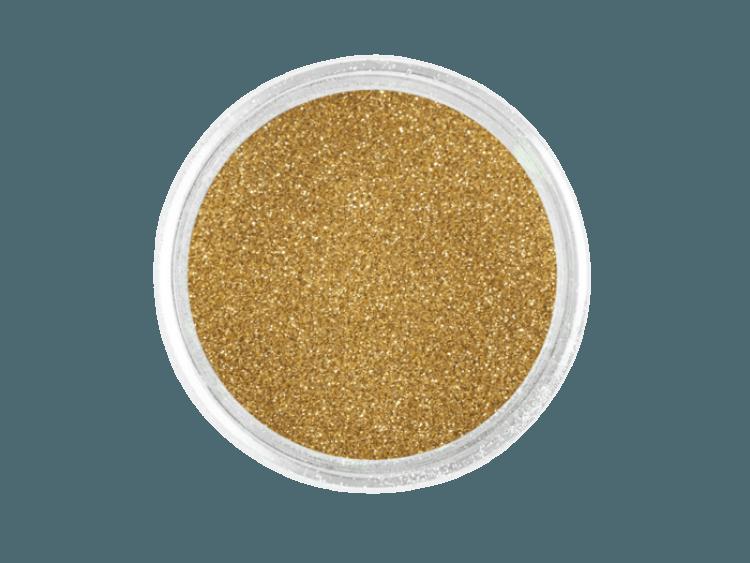 Złoty pyłek brokatowy Volcano Effect No. 1 do zdobienia paznokci.
