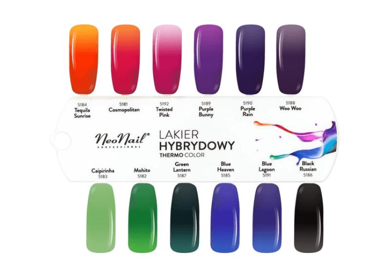 Wzornik lakierów termicznych NeoNail Thermo Color