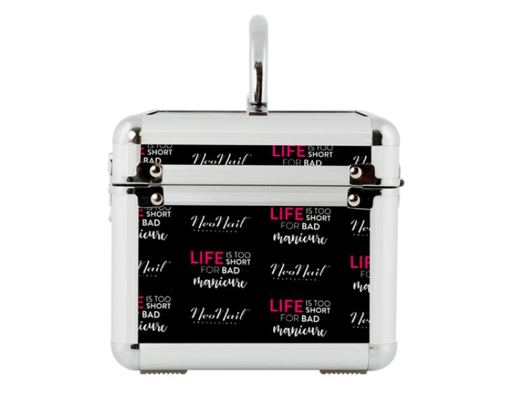 "Kuferek kosmetyczny z logo ""Life is too short for bad manicure"""