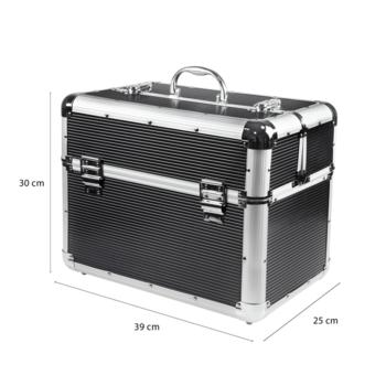 Kuferek kosmetyczny duży XXL czarny 878
