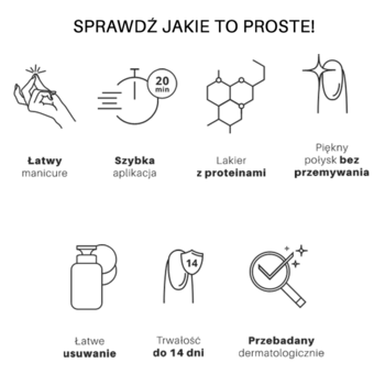 3w1 Lakier Hybrydowy SIMPLE 7,2 g - PEACEFUL