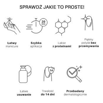 3w1 Lakier Hybrydowy SIMPLE 7,2 g - GLAMOROUS