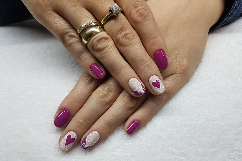 Heart on nails