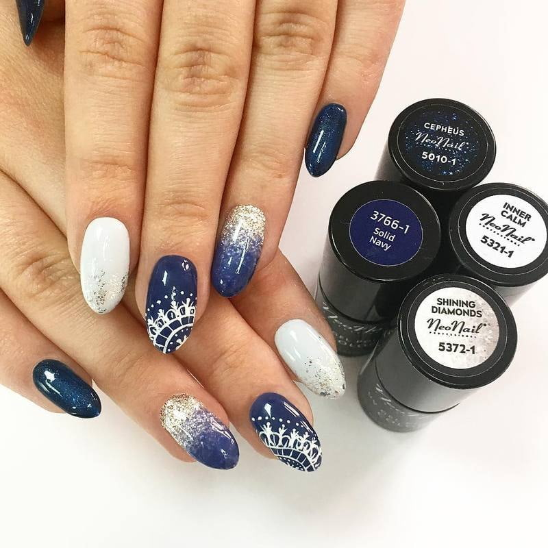 Niebiesko - srebrna tonacja