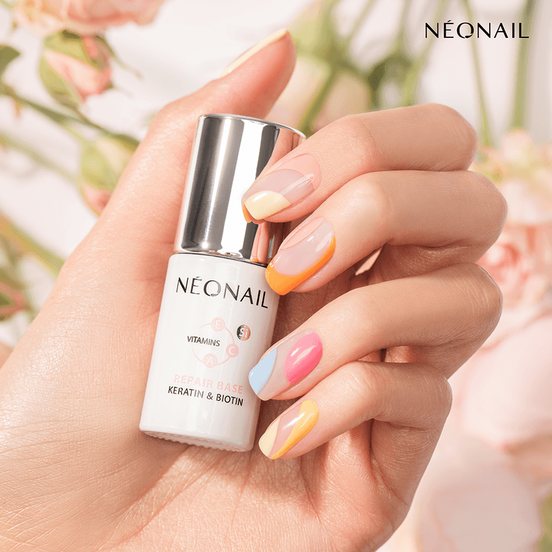 Colorful Nails with Repair Base