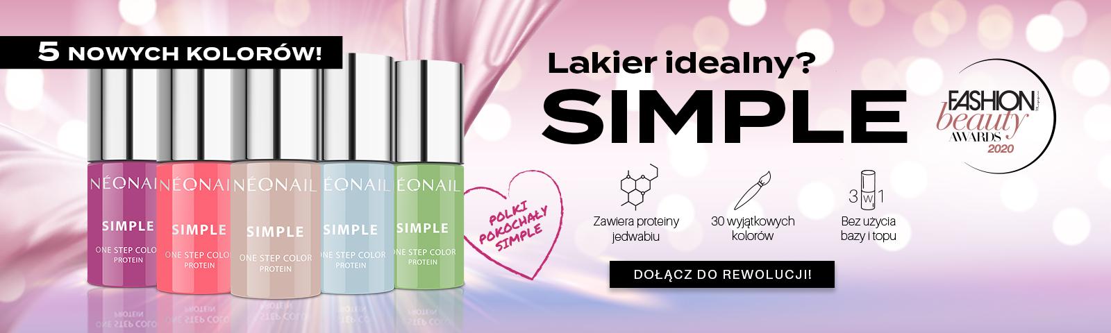 Lakiery Simple V tura Postaw na łatwy i szybki manicure hybrydowy!  SIMPLE
