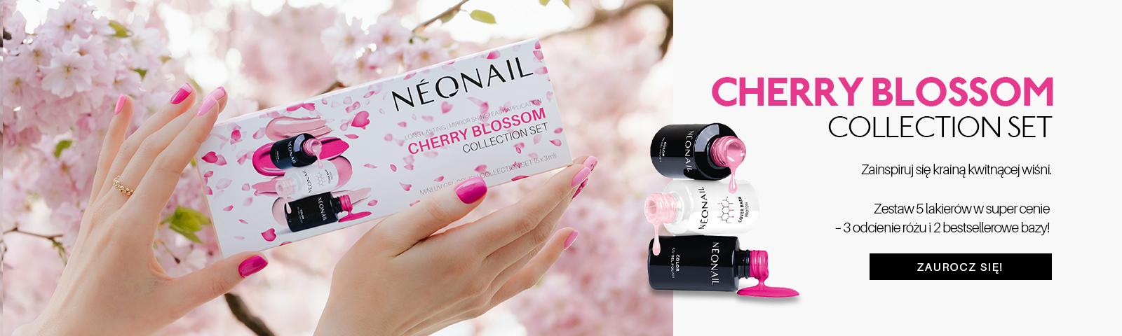 Zestaw Cherry blossom Postaw na zestaw 5x3ml lakierów3 odcienie różu i 2 bazy!  ODKRYWAM!