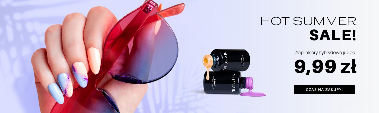letnia wyprzedaż HOT SALE Lakiery już od 9,99 zł. Sprawdź i znajdź swój ulubiony kolor.  HOT SALE
