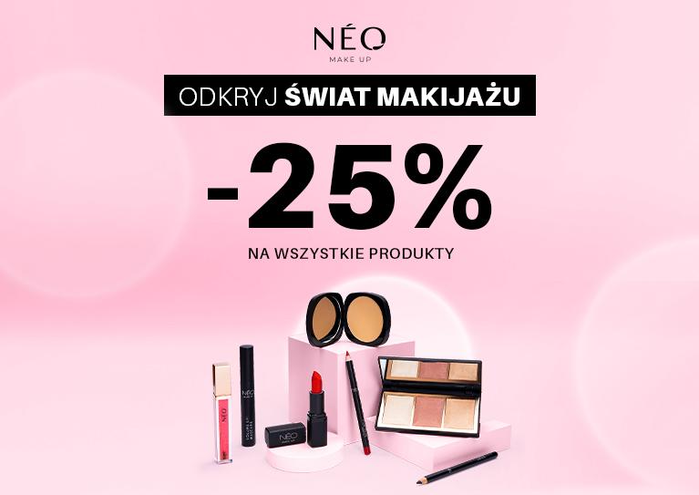 NMU -25% Odkryj świat makijażu -25% na wszystkie produkty  WYBIERAM!