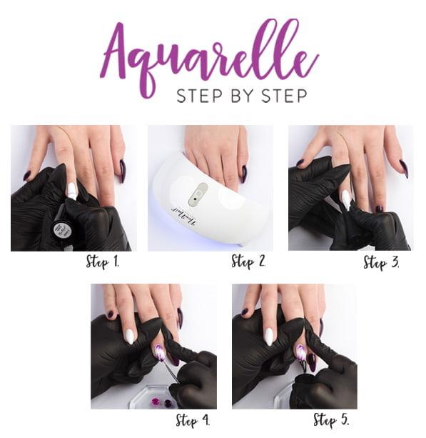 Aquarelle step by step jak malować na mokro