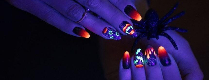 Manicure na Halloween