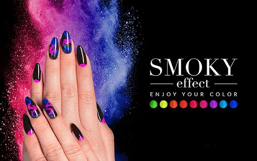 Nowość Smoky Effect – neonowe pyłki do stylizacji paznokci