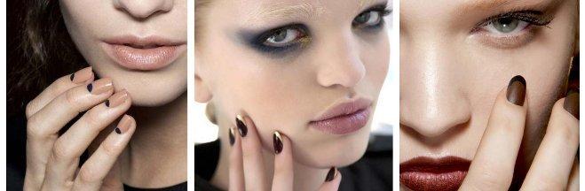 Gorący trend – dwukolorowy manicure