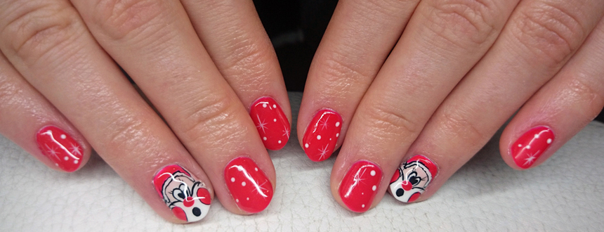 Świąteczne paznokcie :) Nie można obok nich przejść obojętnie!
