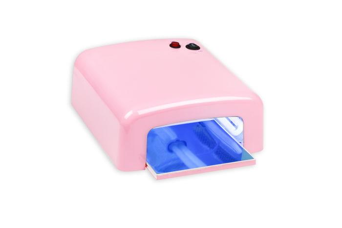 Profesjonalna EMG lampa UV z wysuwanym spodem - różowa