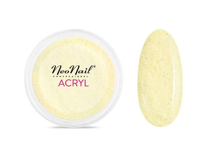 Proszek akrylowy 5 g - pastelowy żółty z drobinkami do manicure