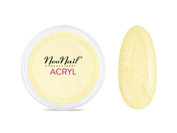 Proszek akrylowy do manicure 5 g - jasny żółty z drobinkami